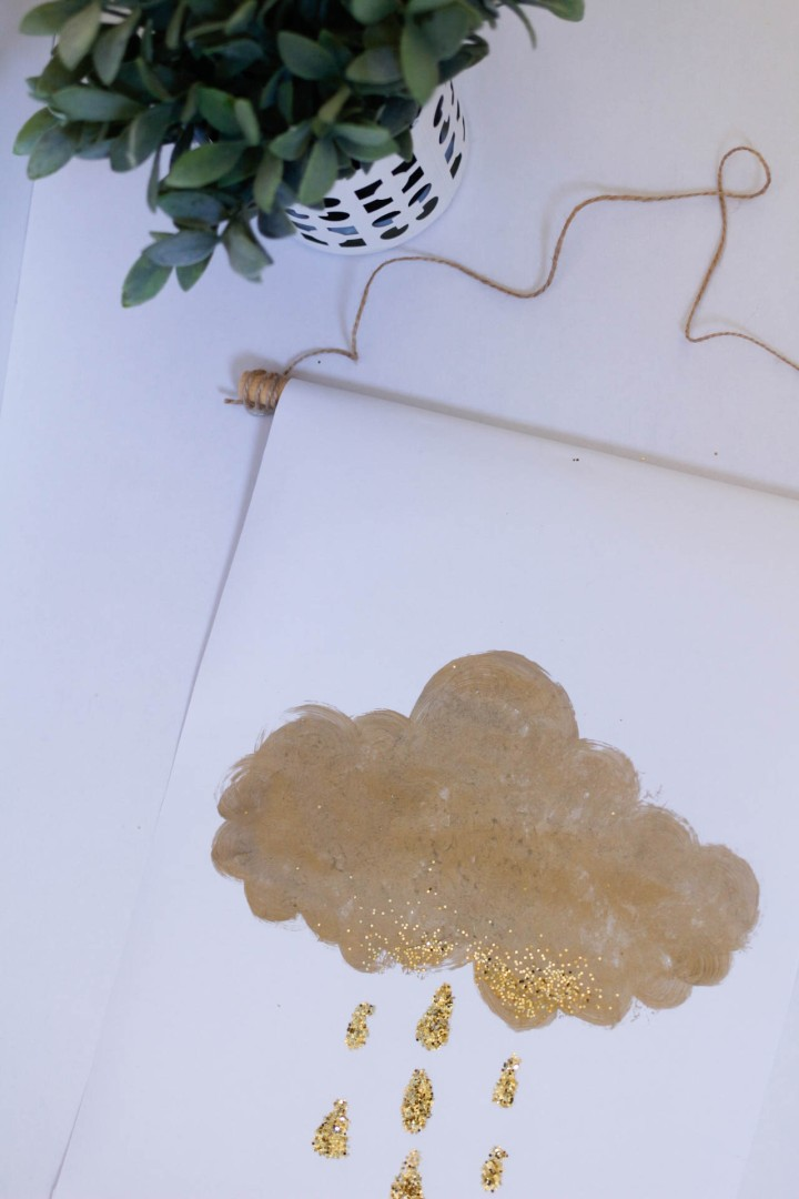 DIY: Painted Scroll // Unicorns, Clouds and Glitter